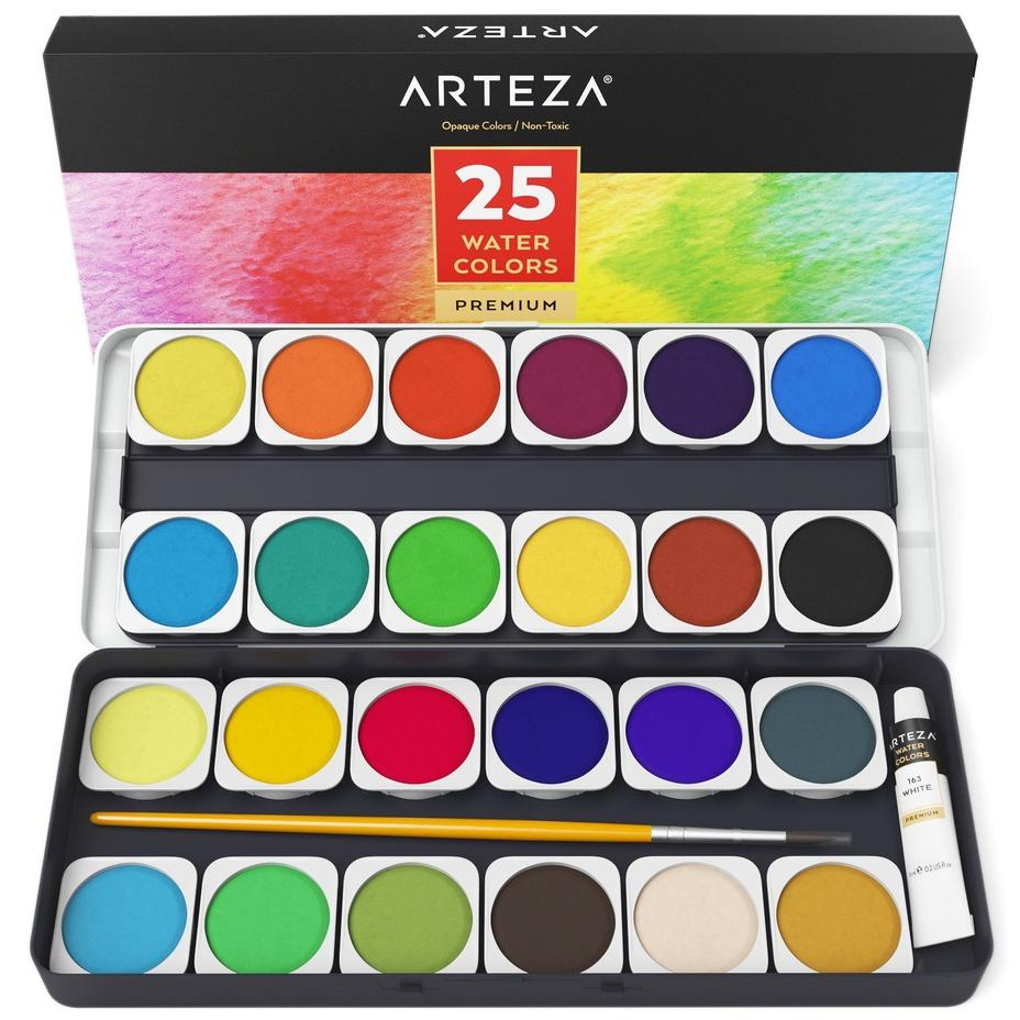 Watercolor Paint (Set of 25), $16.89