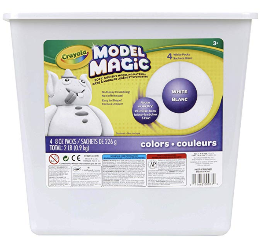 Crayola Model Magic White, Modeling Clay Alternative, 2 lb., $14.99