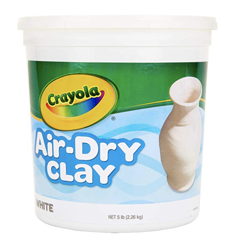 Crayola Air-Dry Clay, White, 5 Pound, $7.64