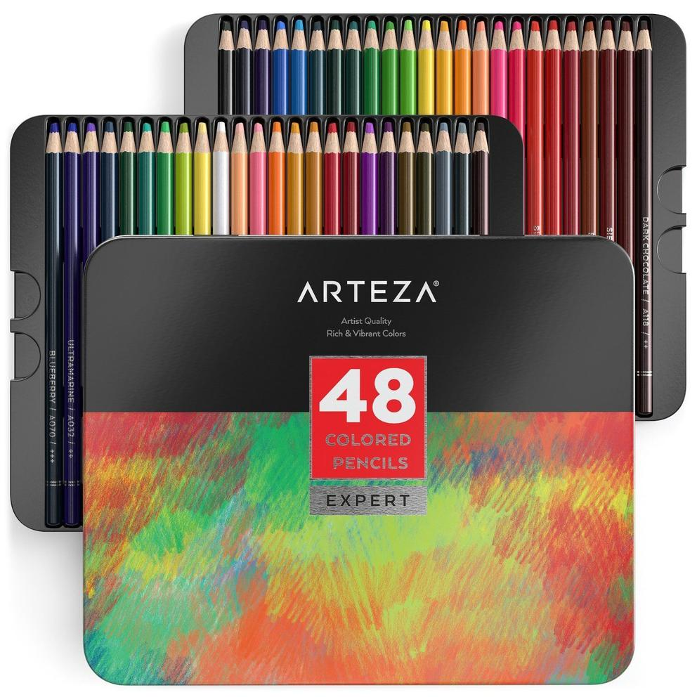 Professional Colored Pencils - Set of 48, $18.99