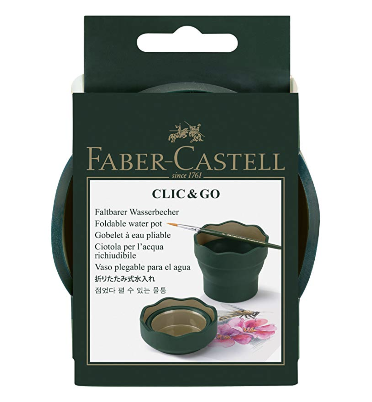 Faber Castell Clic & Go Portable Water Cup with Brush Holder, $5.50
