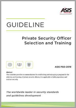 Guideline (PSO): Private Security Officer Selection and Training Guideline, 2019 -