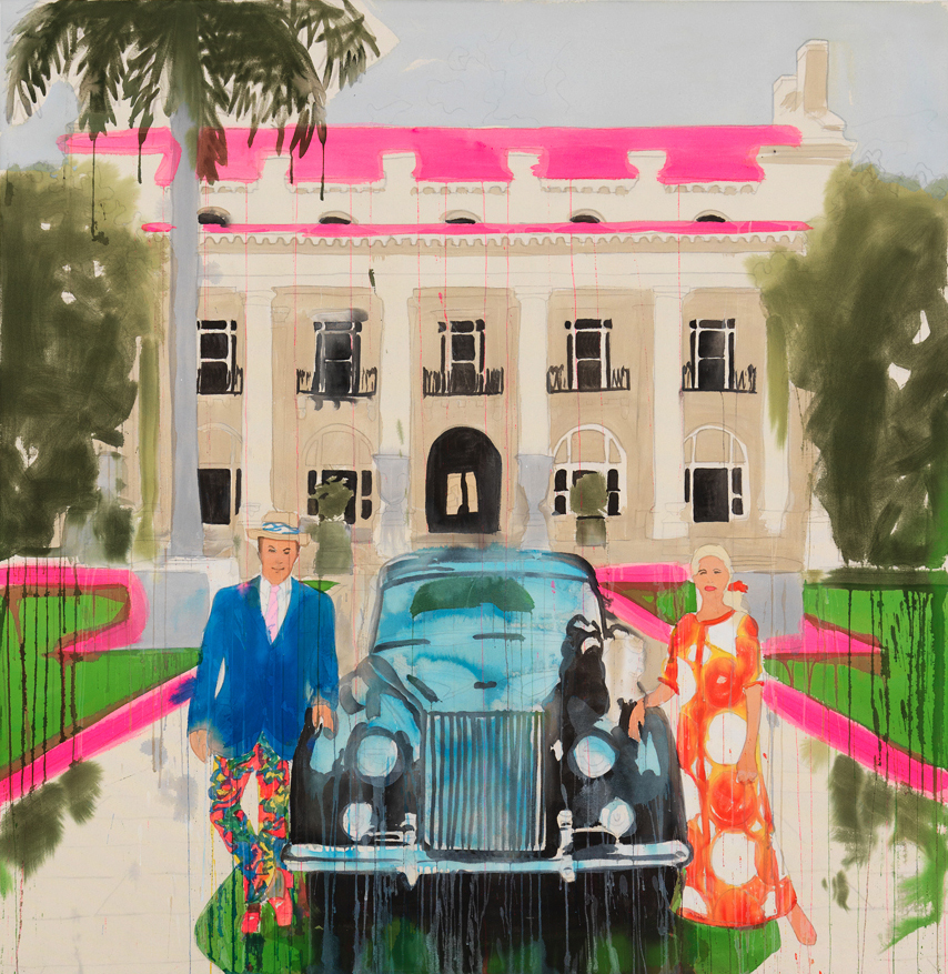 Drip Mix Mr. & Mrs. Donald Leas with Rolls Royce, 2018