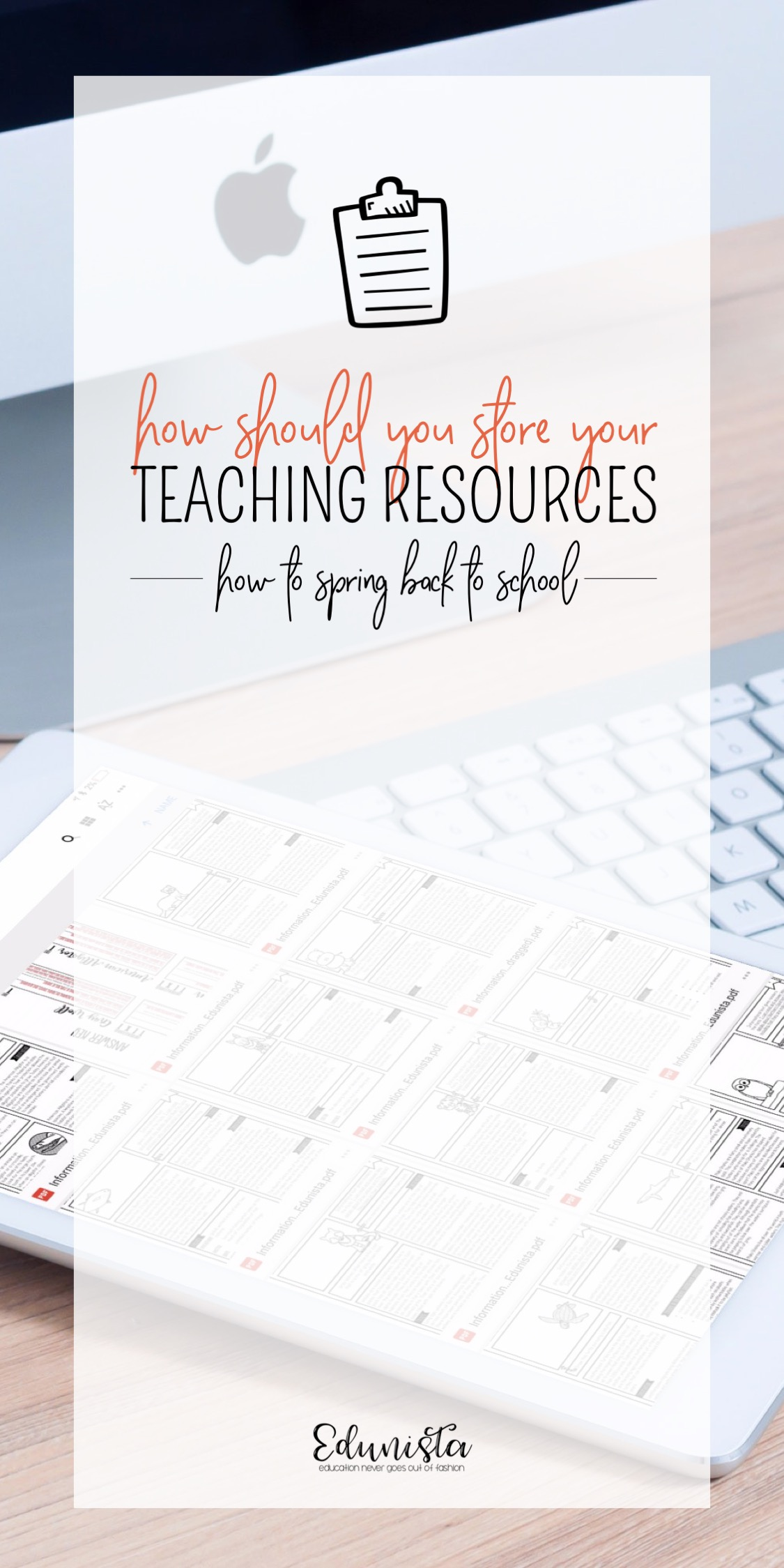 I have been so confused about how to organize and store my teaching resources for so long! This article was so helpful! Now my lessons are organized! I can find what I need quickly and easily!