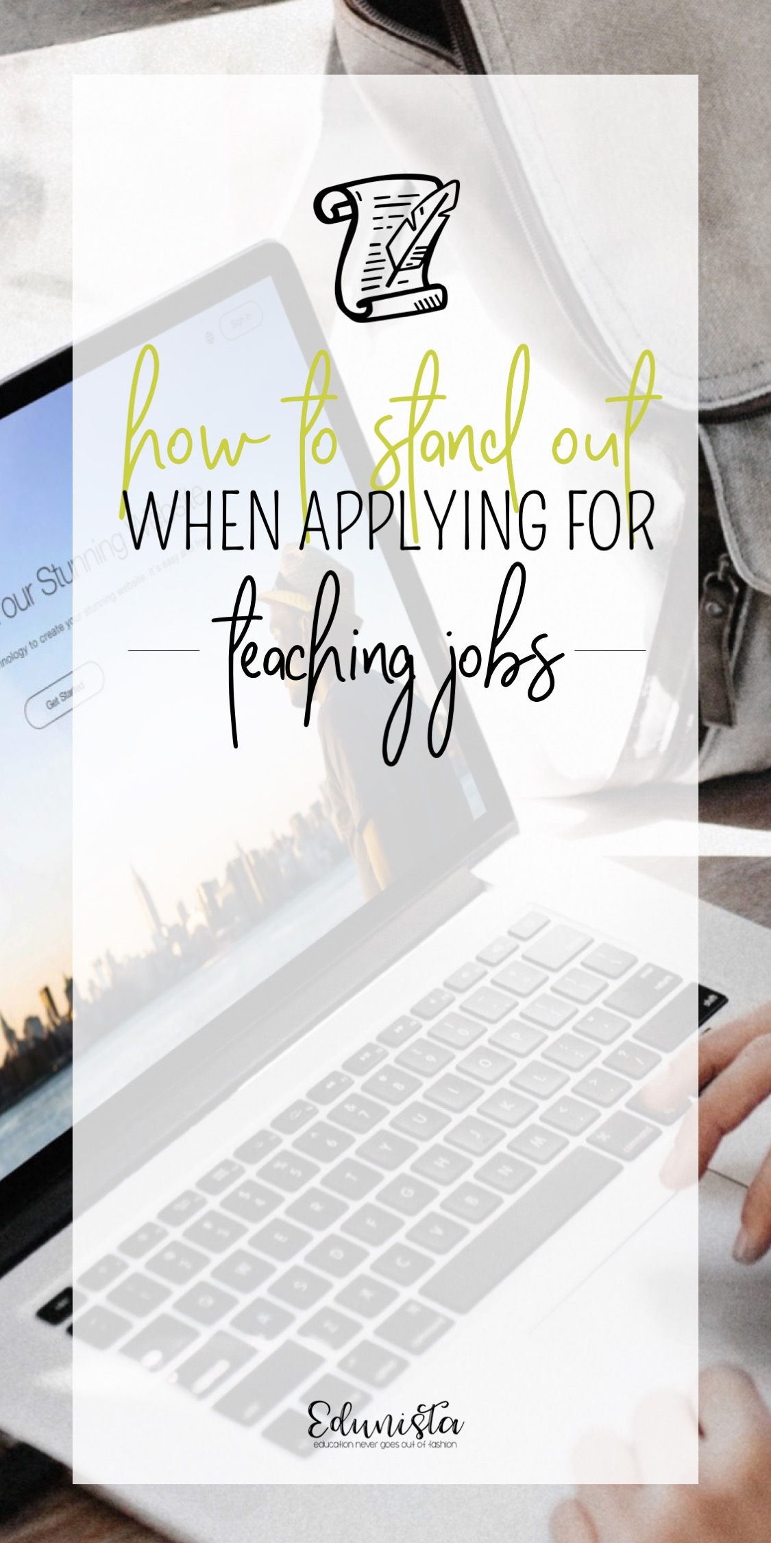 I HATE applying for teaching jobs! It's exhausting, frustrating, and can feel endless! The key to getting noticed is making yourself stand out. Do something different that separates you from the pack! A portfolio/CV website can make all the difference. This is a great guide for how to set up a website that will get you noticed and show your future principal just how amazing you are!