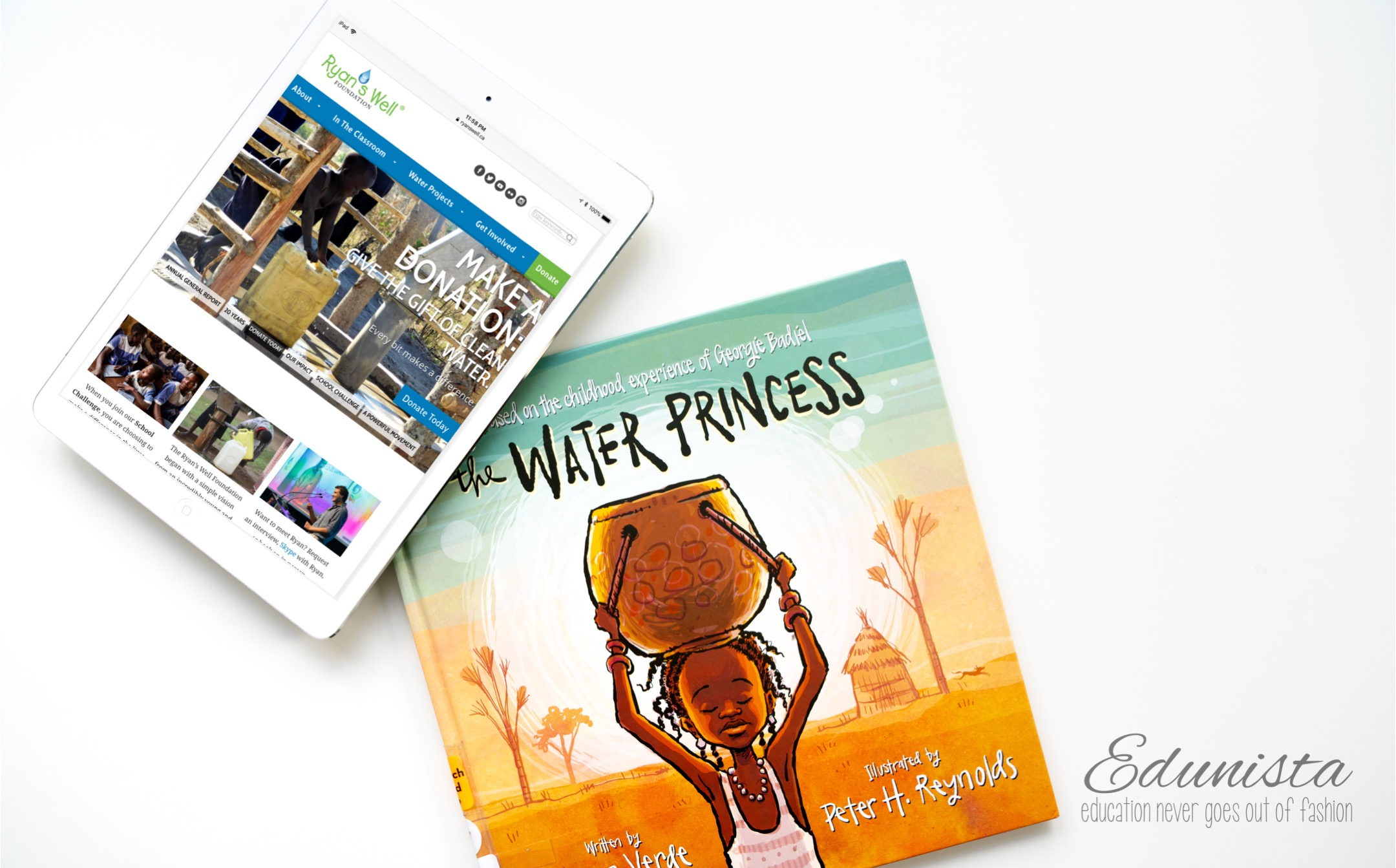 It's appalling that nearly one billion people around the world have limited access to clean, drinkable water and that nearly 5,000 children die each day from preventable water and sanitation related illnesses. The book, The Water Princess, written by Susan Verde and illustrated by Peter H. Reynolds, inspired us to support the work of the Ryan's Well Foundation working in developing countries with local partners to provide access to clean water and sanitation and hygiene education. Be part of the change with the TpT Day of Giving!