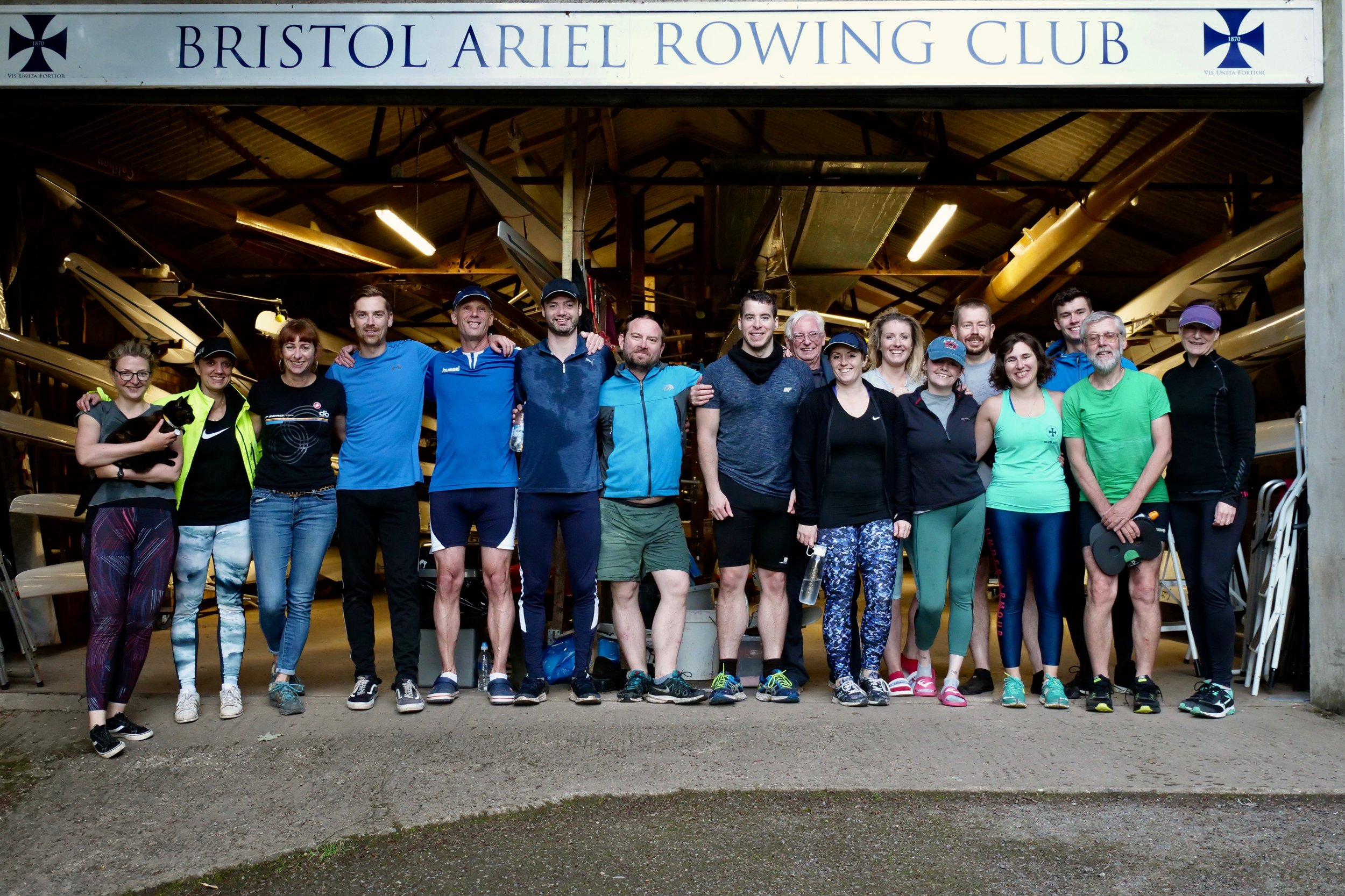 Participants from the 21km Solstice Row challenge