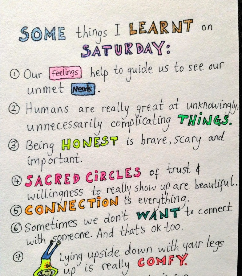Rosanna's reflections on her day after the Foundation Training @drawitoutdaily on Instagram