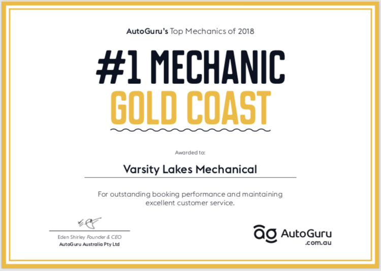 #1 Mechanic on AutoGuru - Currently ranked NUMBER 1 ON THE GOLD COAST with over 140 reviews. Varsity Lakes Mechanical is proudly the only Mechanic in all of AUSTRALIA with a 5🌟rating on AutoGuru.