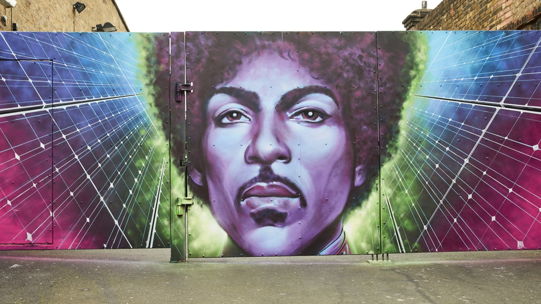 mural of prince - photo by Oliver Ruskin