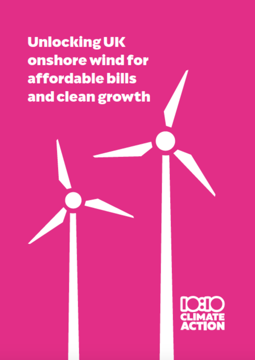 document - Unlocking UK onshore wind for affordable bills and clean growth - click to download