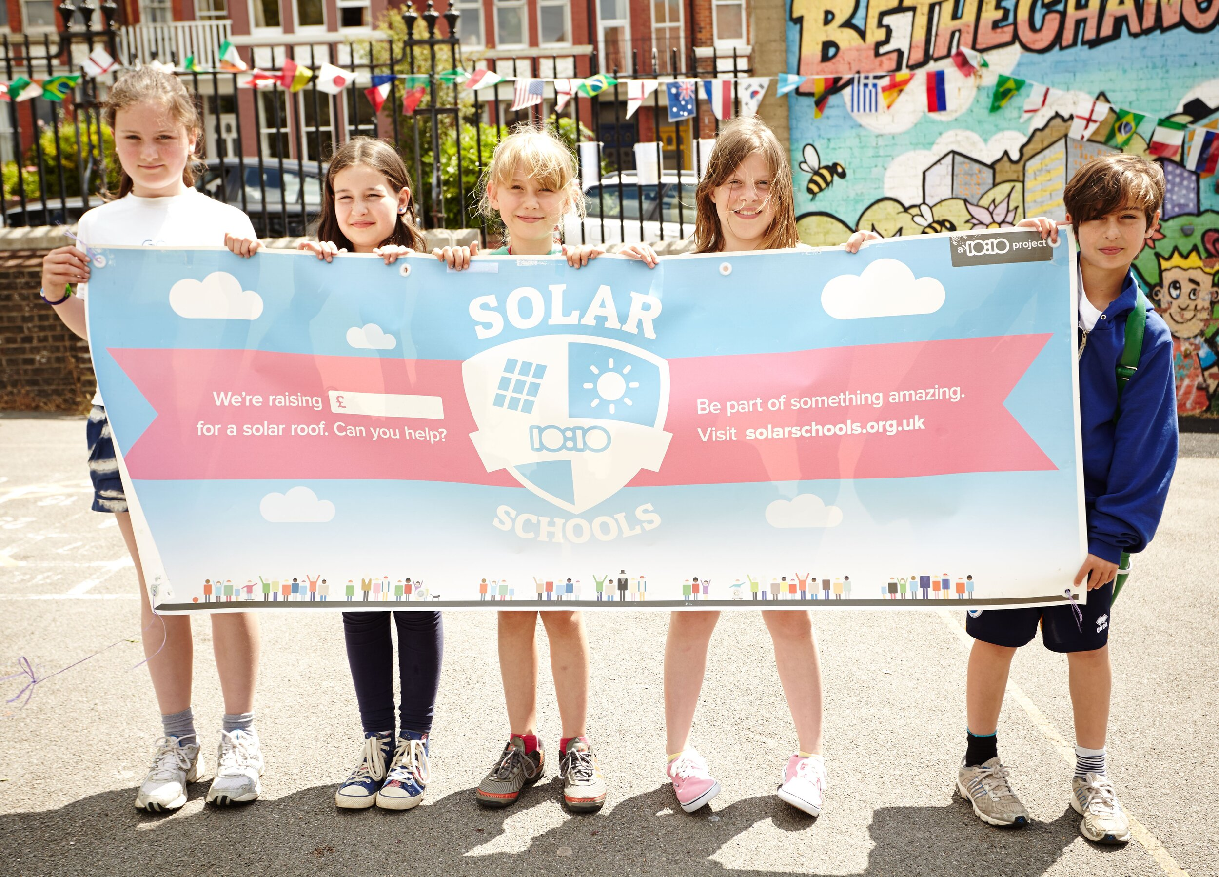 One of our solar schools, St Lukes in Brighton.