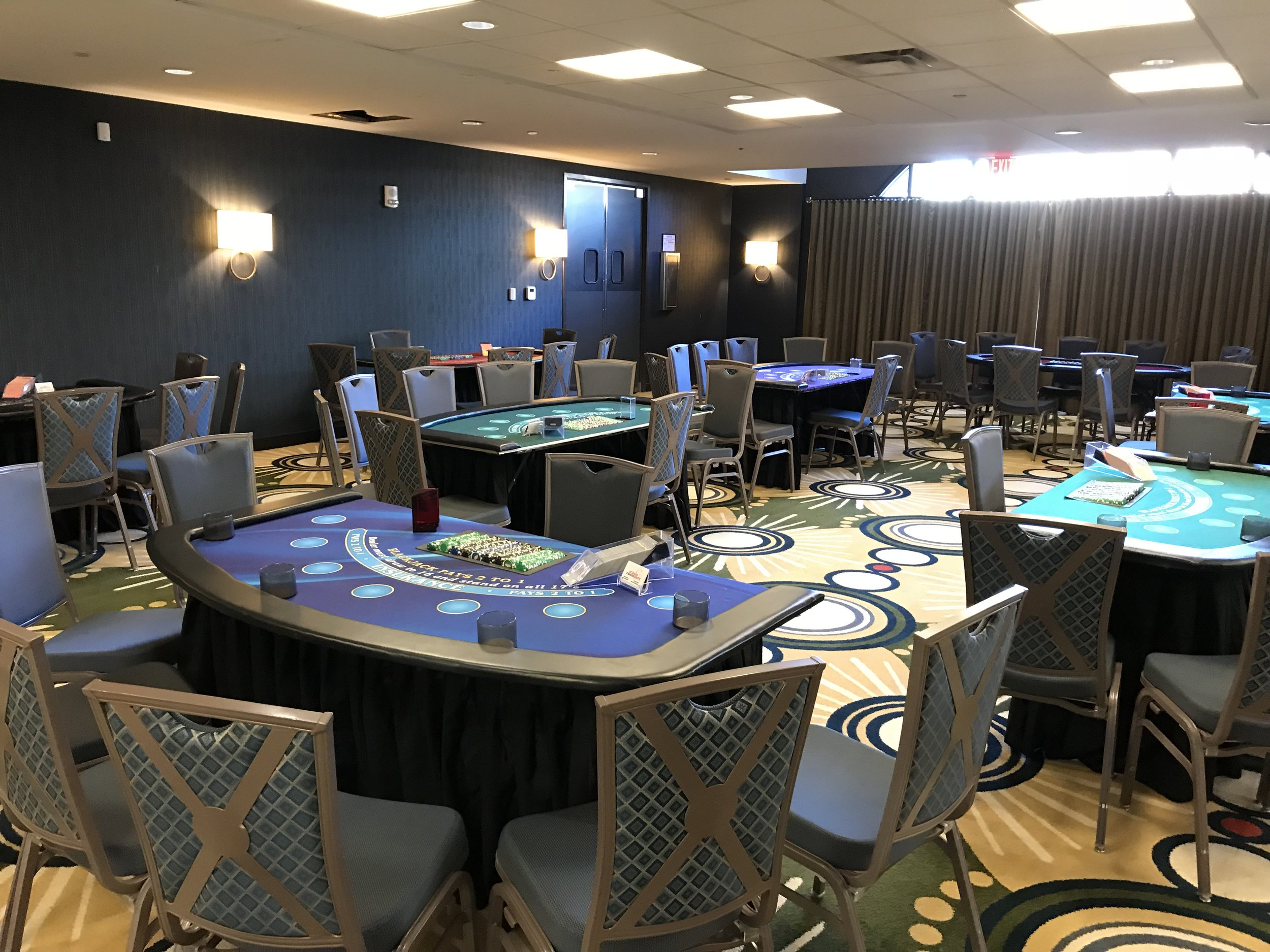 BLACKJACK: Our most popular game, each blackjack table can accommodate seven players. Our dealers will teach the players basic strategy and assure they have a fantastic time.