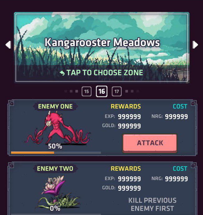 Questing in Kangarooster Meadows….ready to attack!