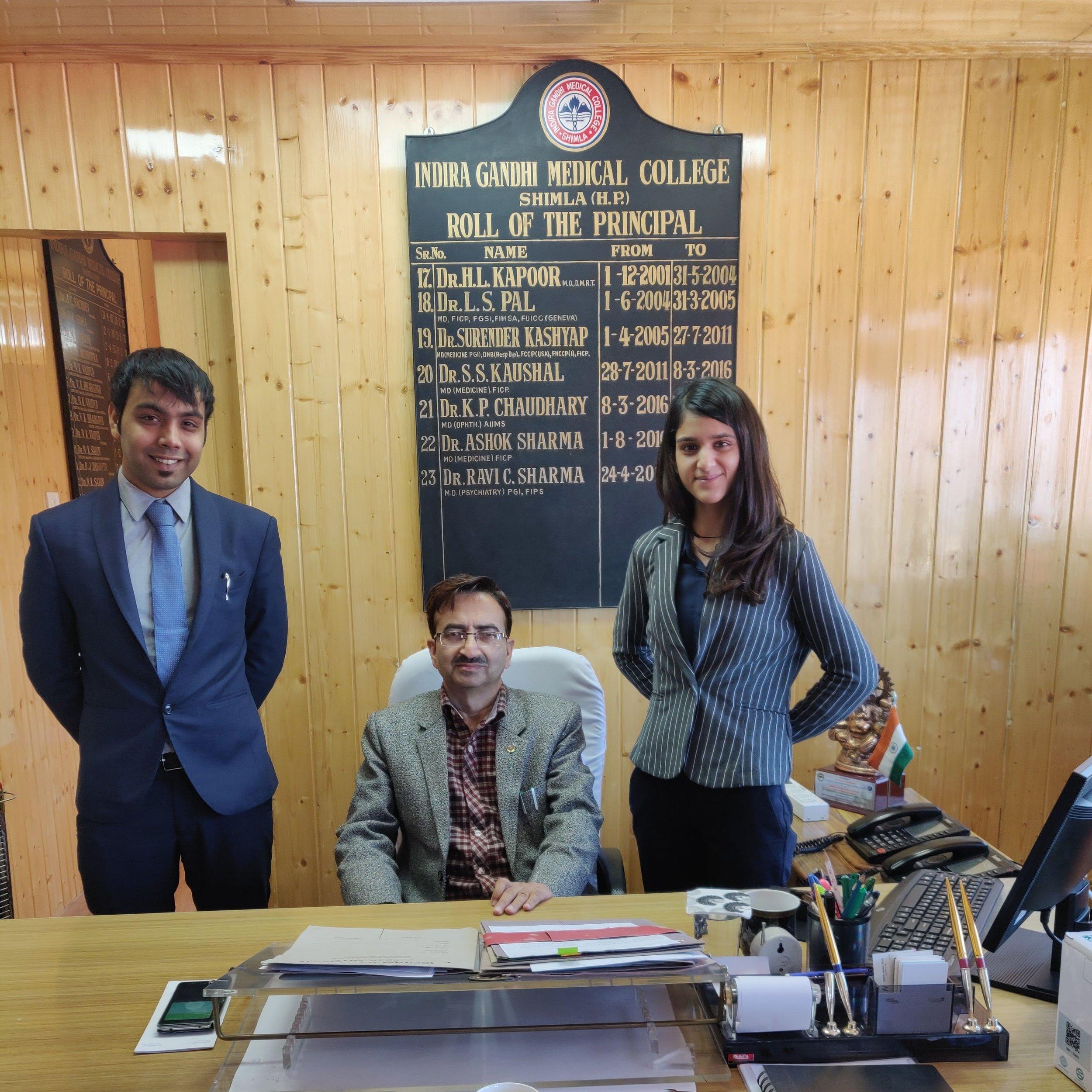 Meeting the Honourable Principle of the IGMC, Shimla, Himachal Pradesh. (2018)