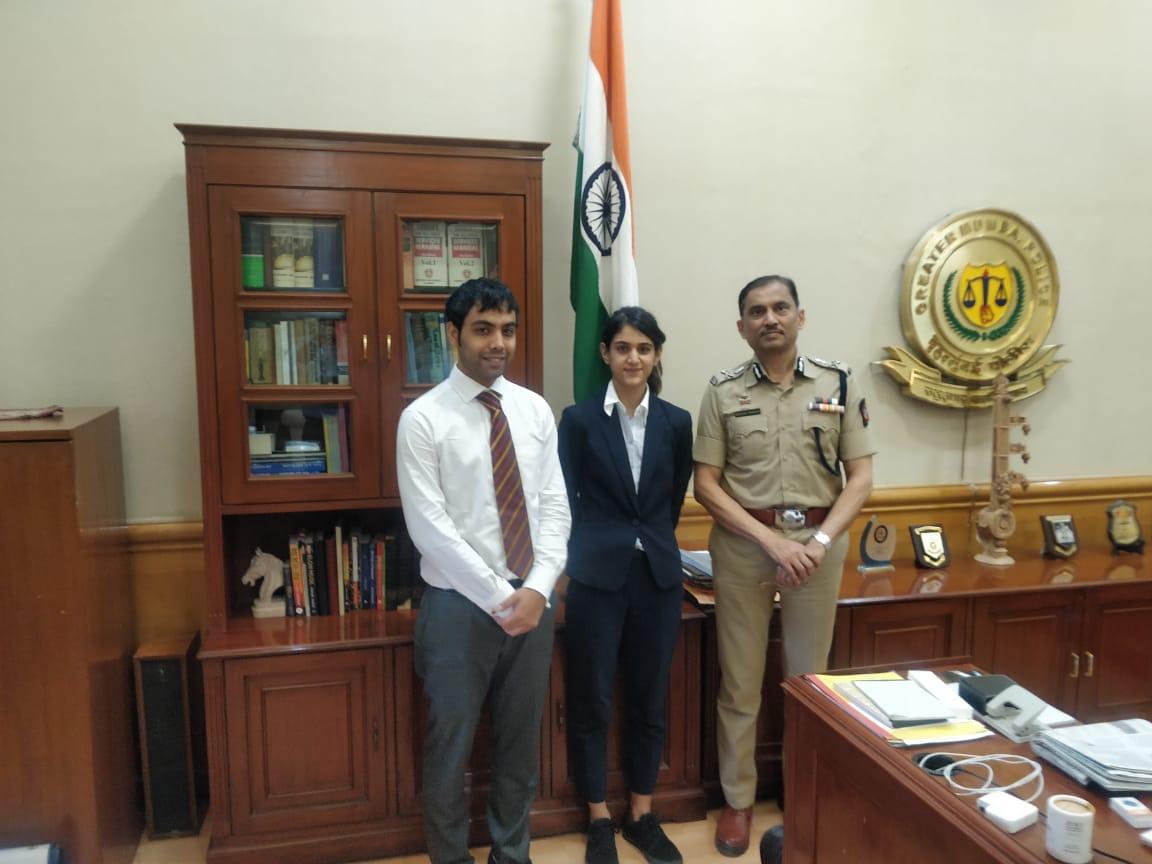Meeting with the Honourable Commissioner of Police, Mumbai, Maharashtra. (2019)