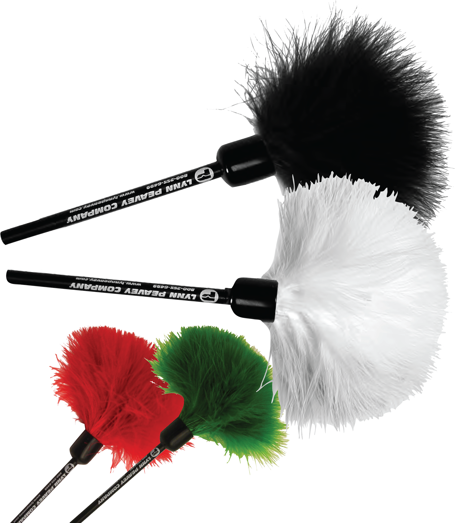 Feather Dusters, available in a variety of colours.