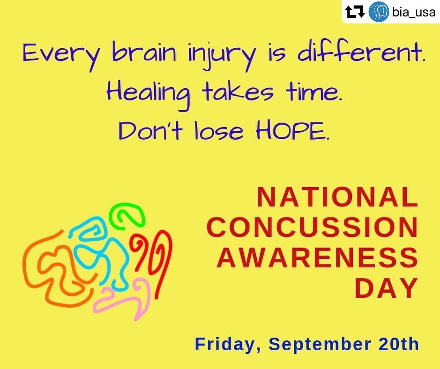 - NATIONAL CONCUSSION AWARENESS DAYSeptember 20th, 2019
