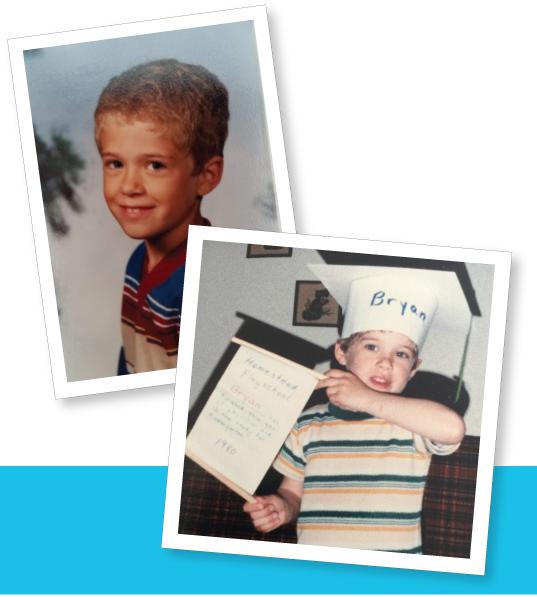 Bryan as a young boy.