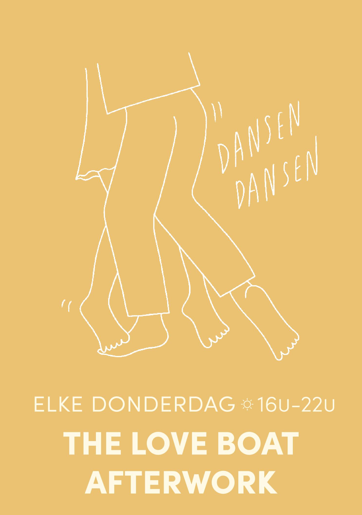 ELKE DONDERDAG:  AFTERWORK /// THE LOVE BOAT