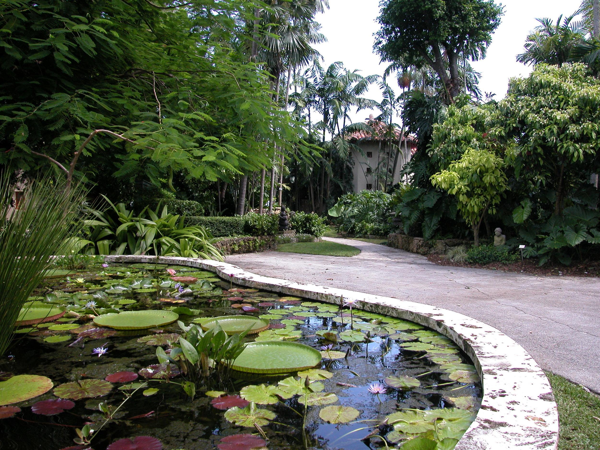 Fountain Garden. The Kampong, Coconut Grove, Florida by Camilo Rosales, AIA.