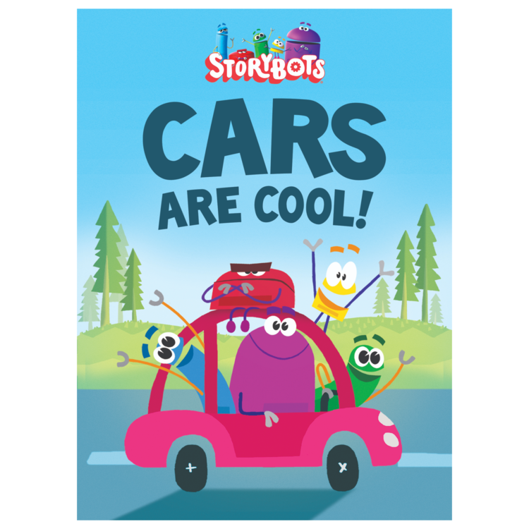 "CARS ARE COOL! - Board Book: 24 pagesSize: 5.2 x 7.2 inchesBig cars, small cars, fast and slow… Cars are everywhere and kids love them! Join the StoryBots as they zip around the pages of this rhyming book. Toddlers and preschoolers will recognize the signature catchy rhymes and colorful art from the ""Cars, Cars, Cars"" video."