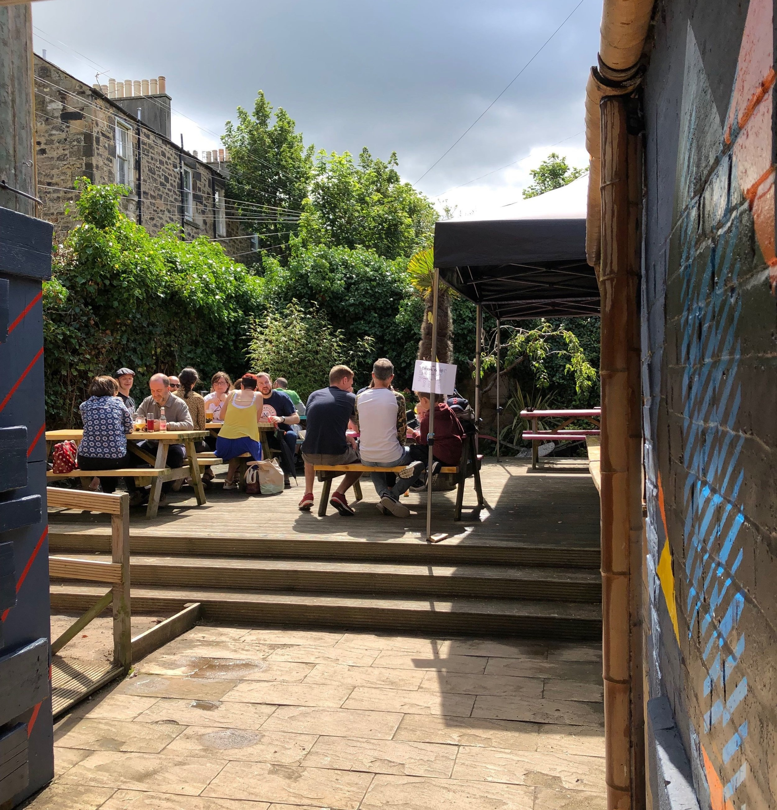 Beer Garden and Street Food - Have a seat in our secluded beer garden, and be sure to grab a bite to eat from our friends at Jones & Son while you're here. Check our social media feeds for more information on daily food availability.