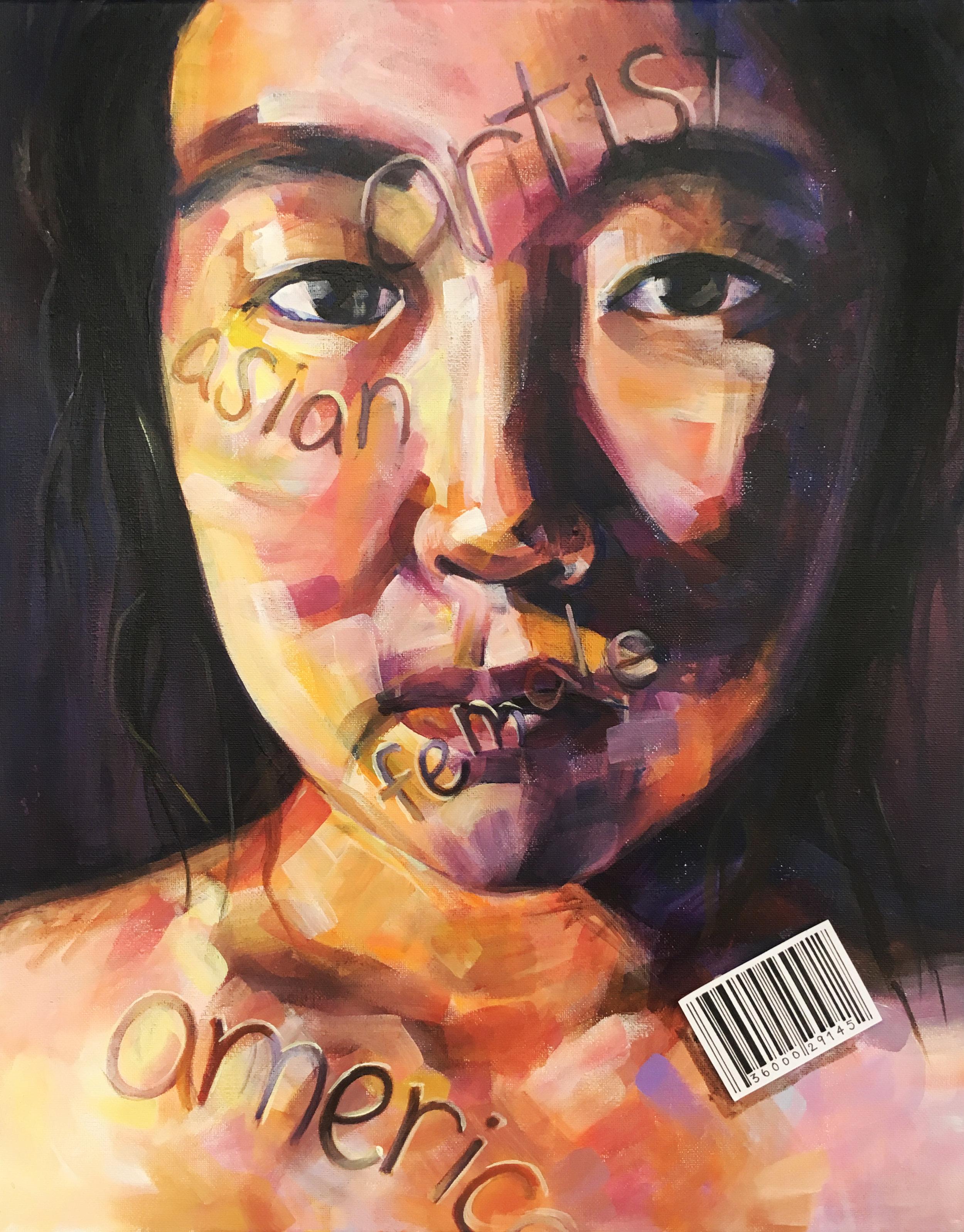 Behind the Label, Xixi Wang, acrylic on canvas, 16x20, $1500.jpg