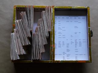 Interior view: 10 books 1 box