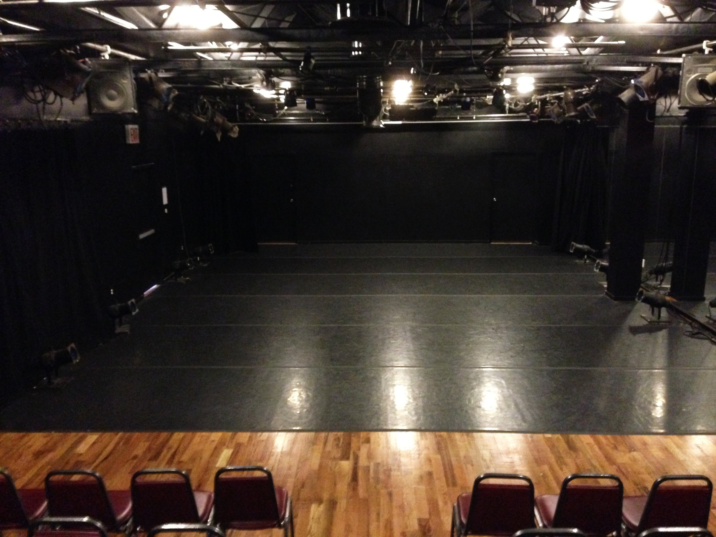 Stage Space:28' wide x 43' long