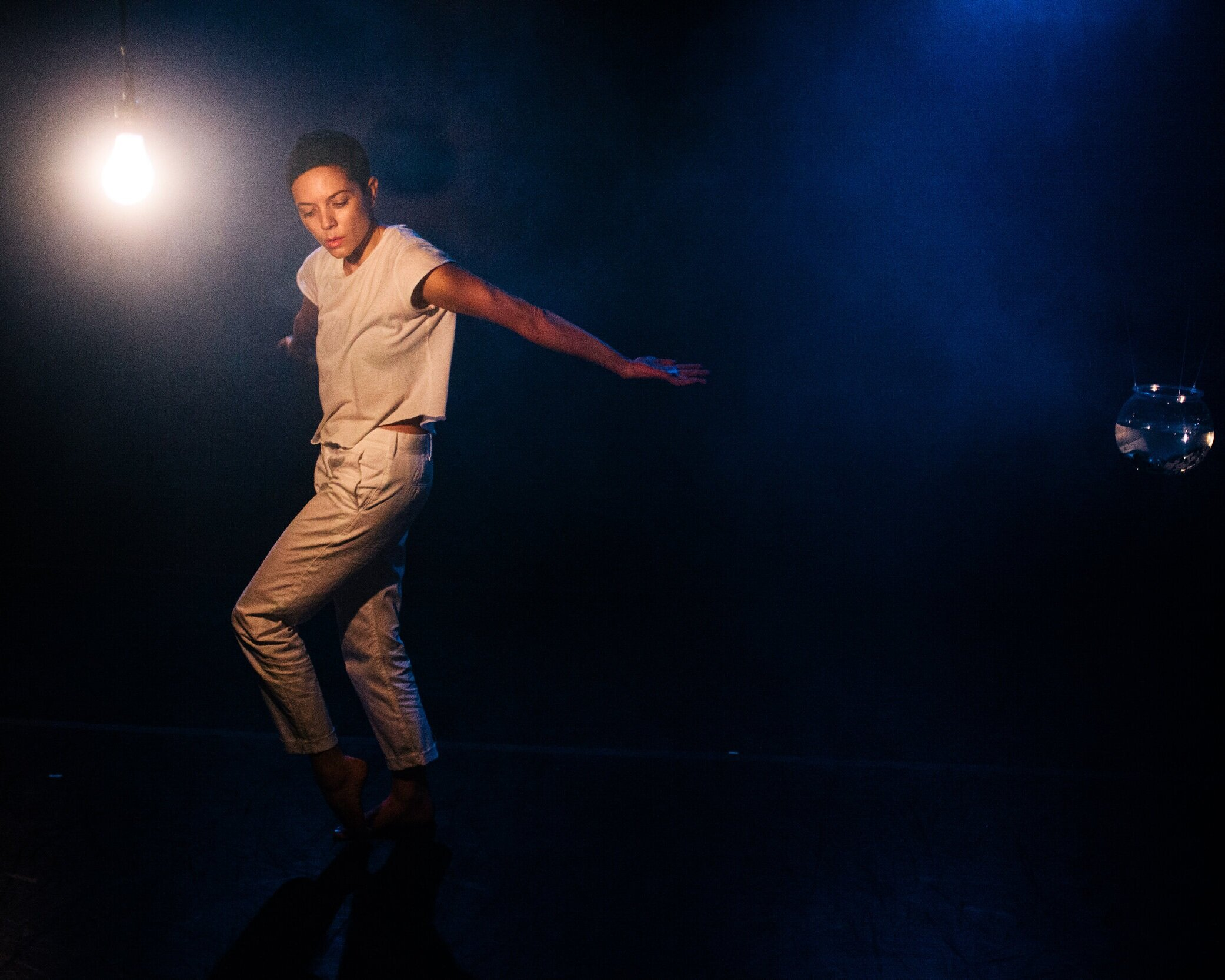 Rachel Mckinstry - I am a Brooklyn-based dance artist, who makes work that lives in the immediate moment and disappears as soon as it made. She believes that art is the result of is a combination of magic, craft, mining, and seance. It's an experiment.