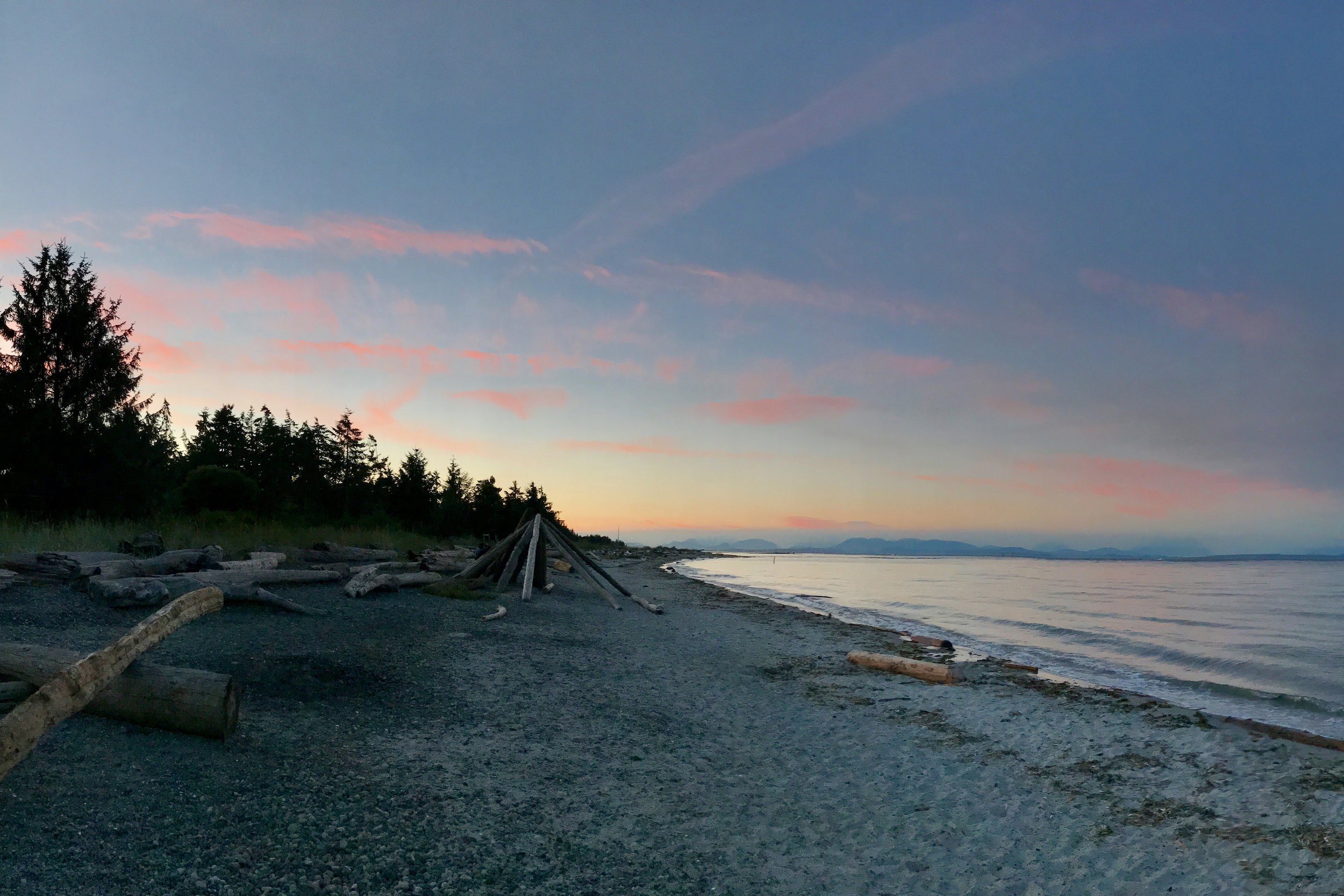 Sunset on the beach - Vancouver Island BC