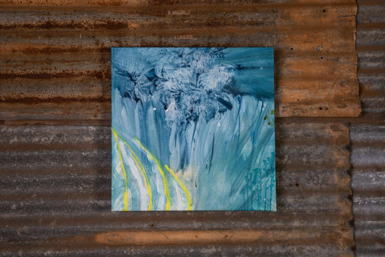 Smokey Gums Under Blanket Blue II