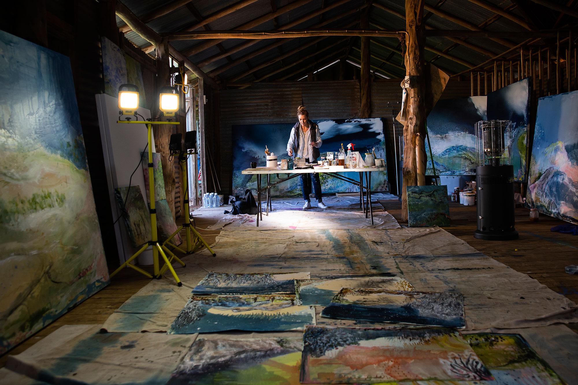 Studio shot in repurposed studio