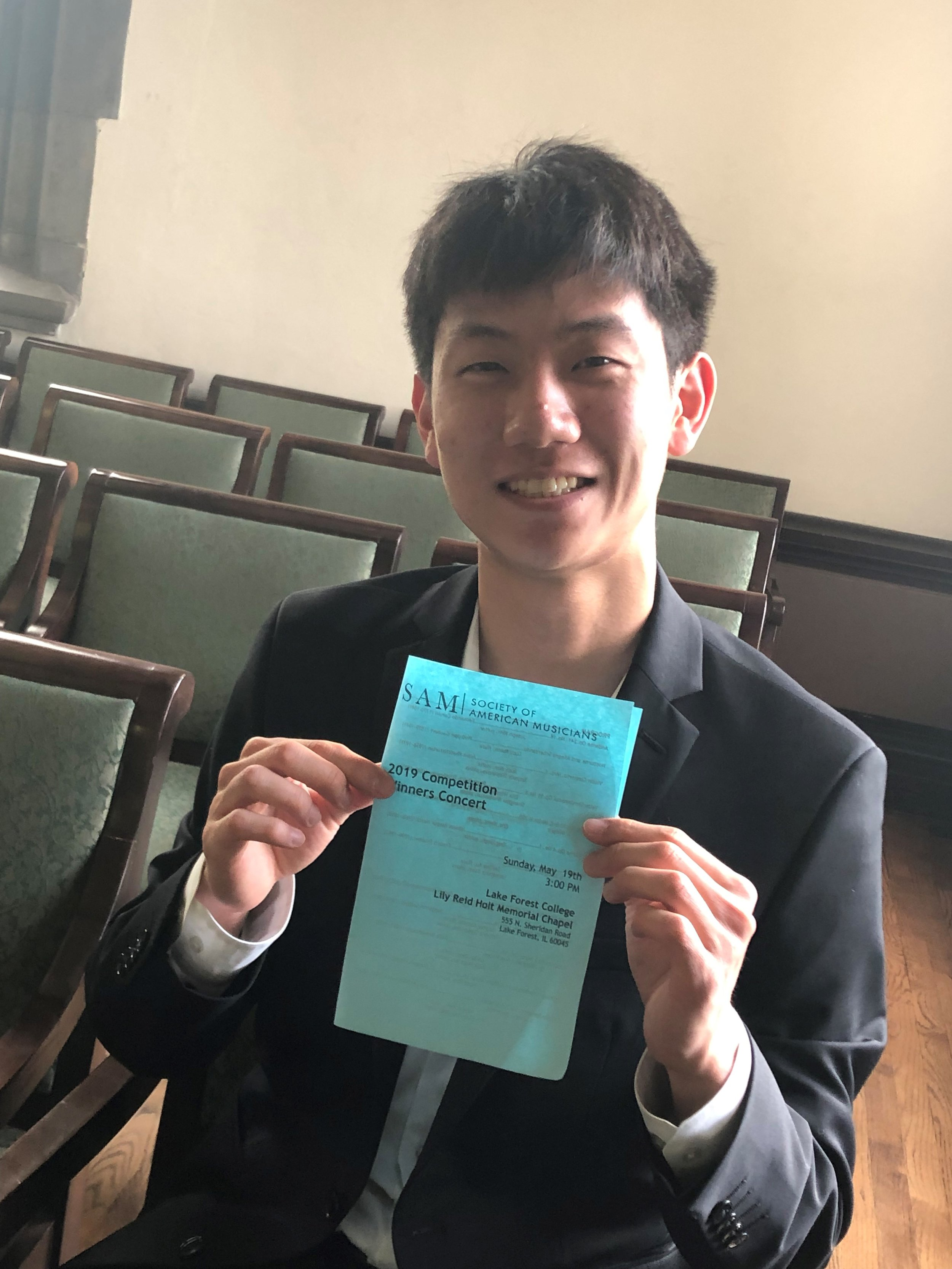Daniel Kim  winner of the 2019 Violin Young Artist Division