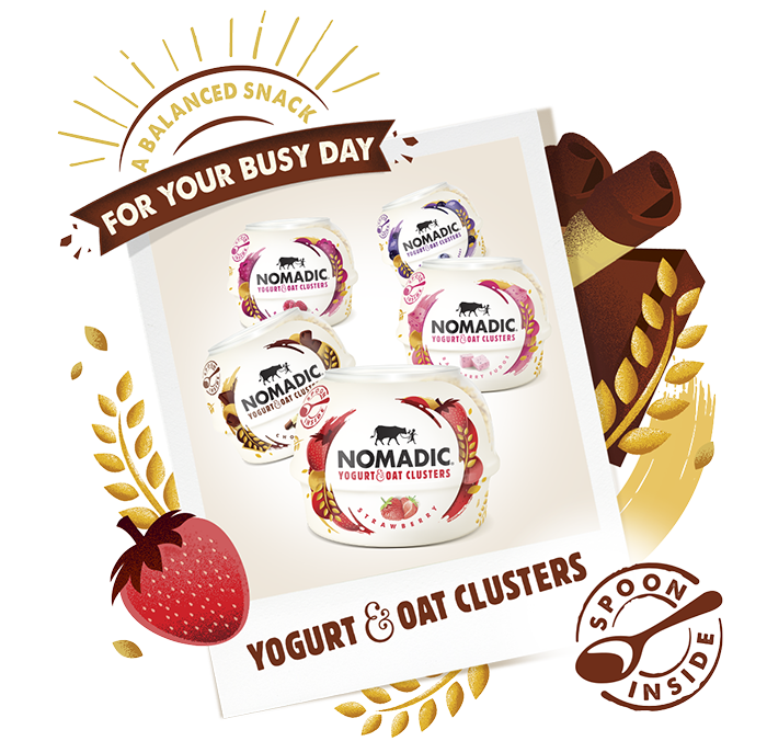 Yogurt and Oat Clusters - Nomadic Dairy, makers of lovely live yogurt