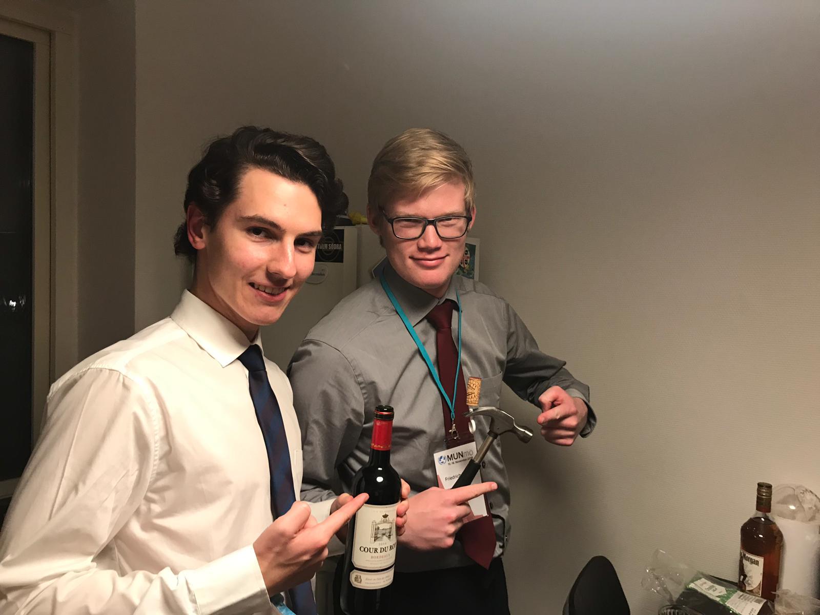 Wine drinking level: German.