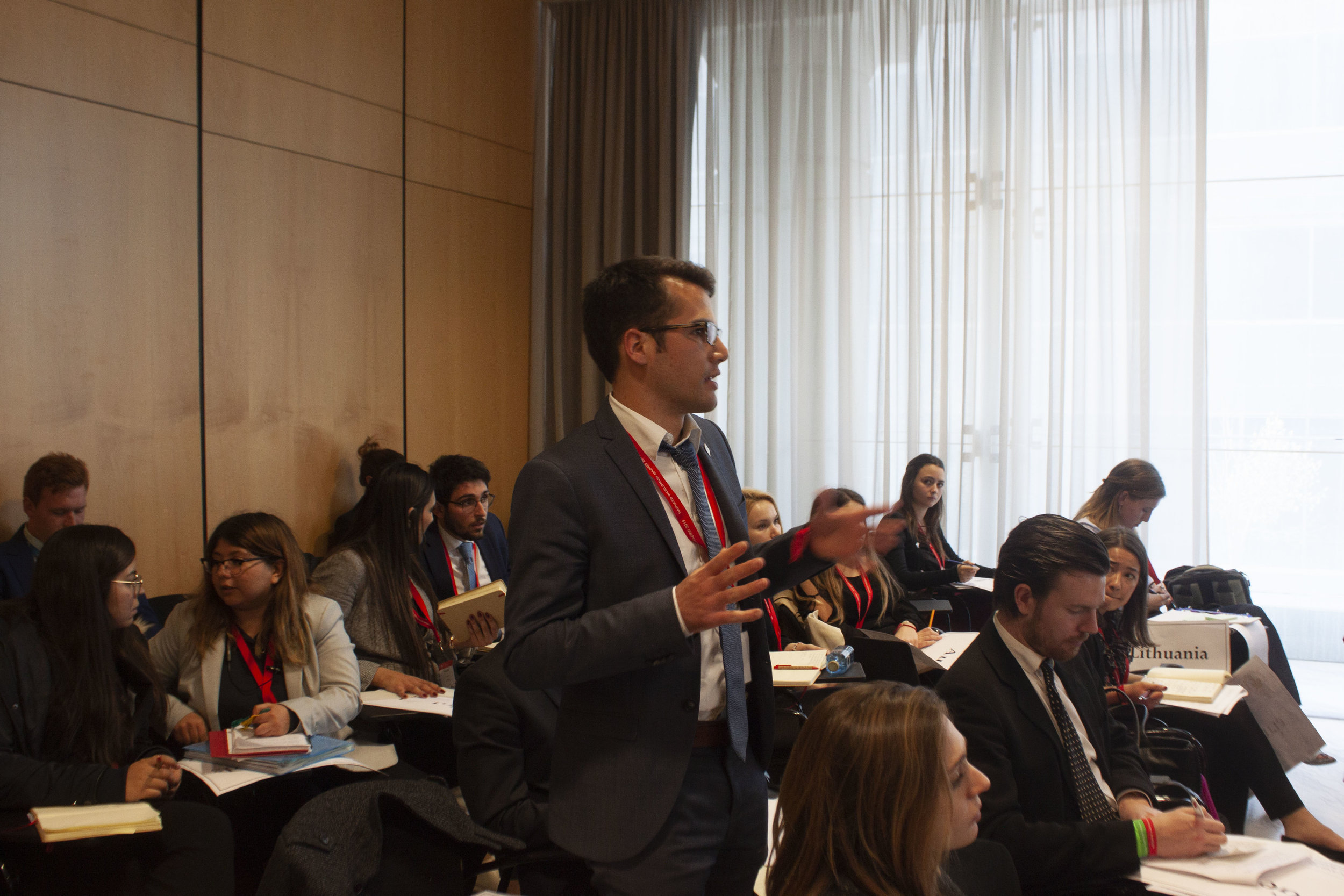 Speak - If you have a fear of speaking in front of people, then you're in the right place to lose it. Model UN is a perfect opportunity to get others to listen to you, become more convincing, practice your delivery and improve your ability to improvise.