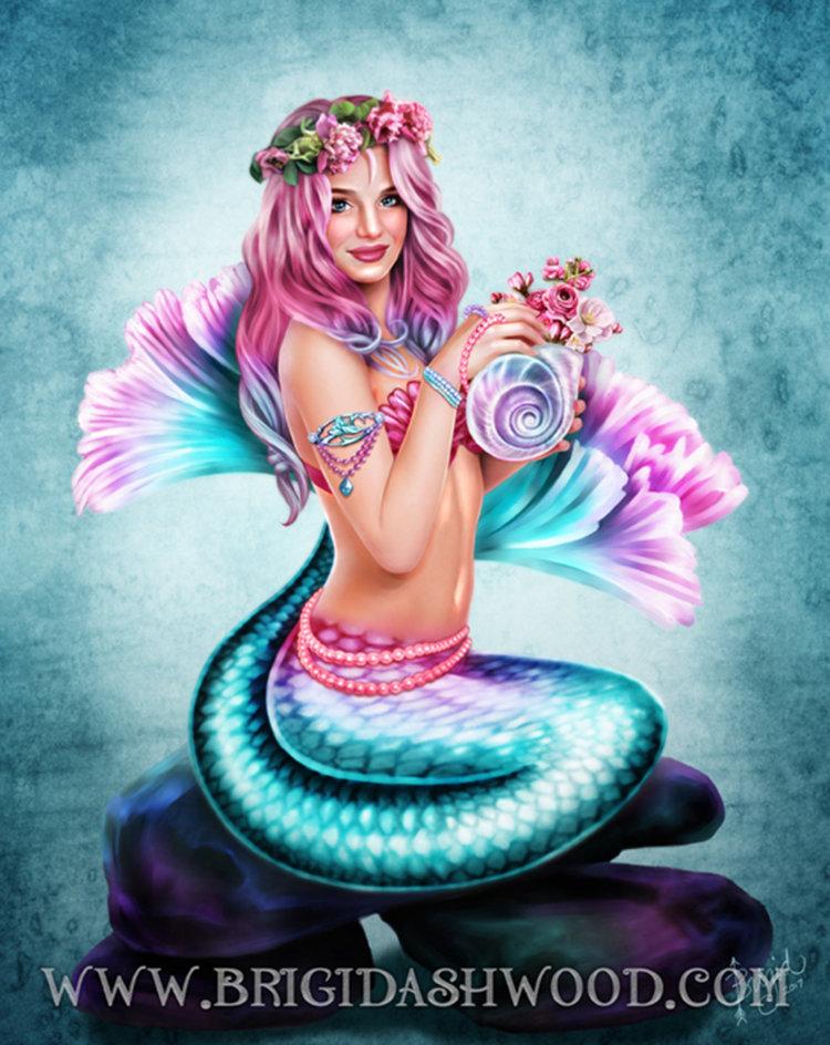 Mermaid Visions: Spring Flowers
