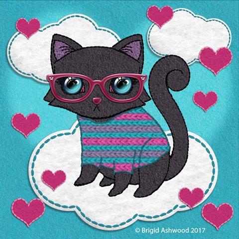 Geek Cat Hearts