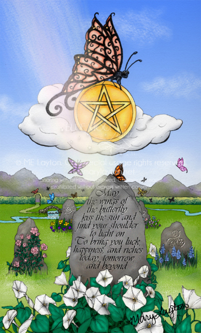 ACE OF PENTACLES by MARY LAYTON