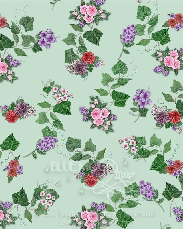 FLORAL PATTERN 1 by MARY LAYTON