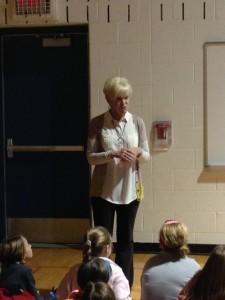 Mrs. Whitsitt attended the kick-off celebration today at Heritage Elementary School