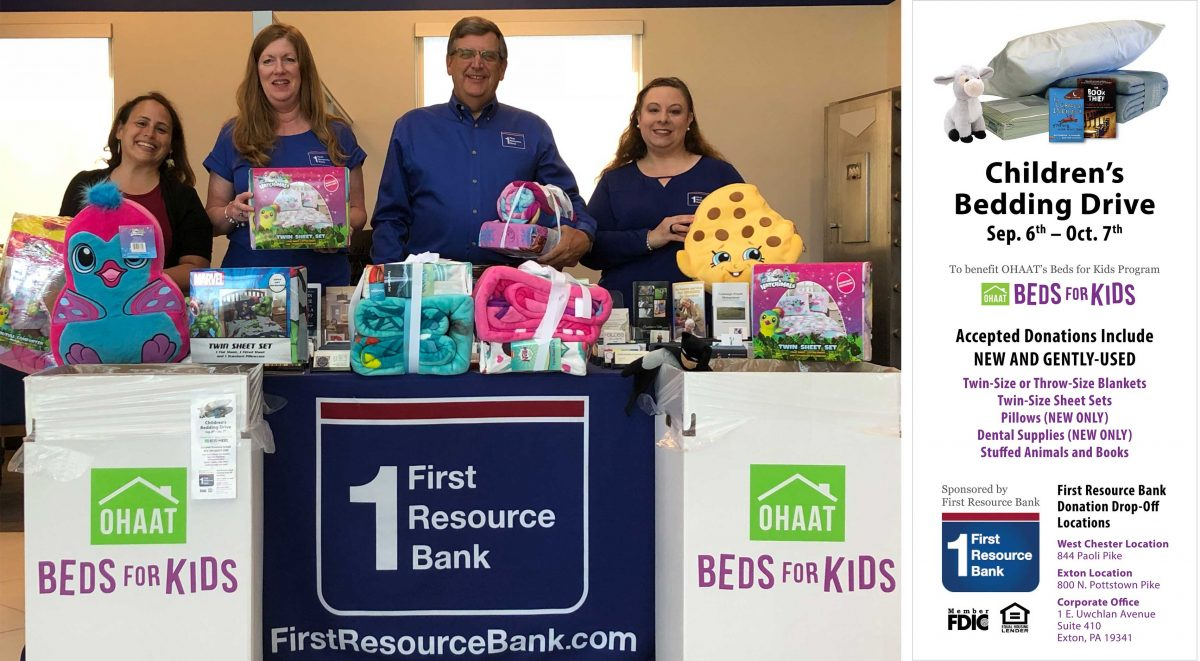 Children's Bedding Drive at First Resource Bank