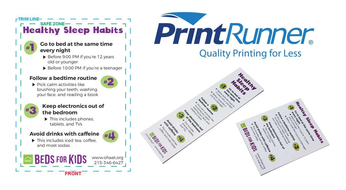 PrintRunner Nonprofit Sponsorship Program supports OHAAT Beds for Kids Sleep Education