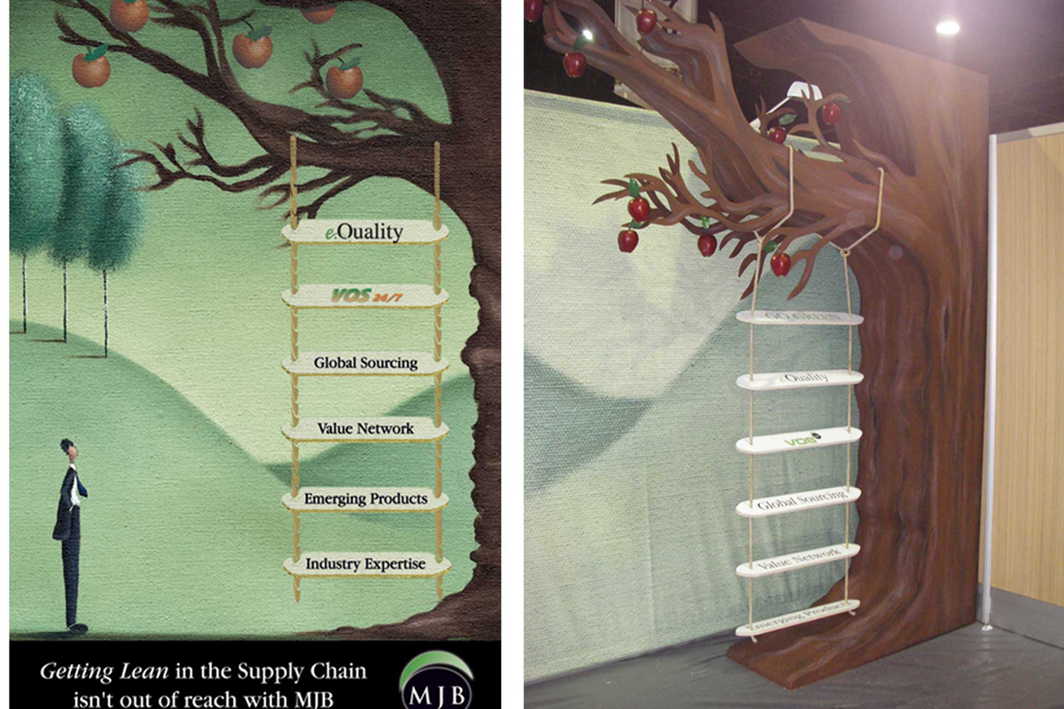 Atlanta Props™ Custom Event and Display Props - 3D Tree and Ladder for Trade Show Display