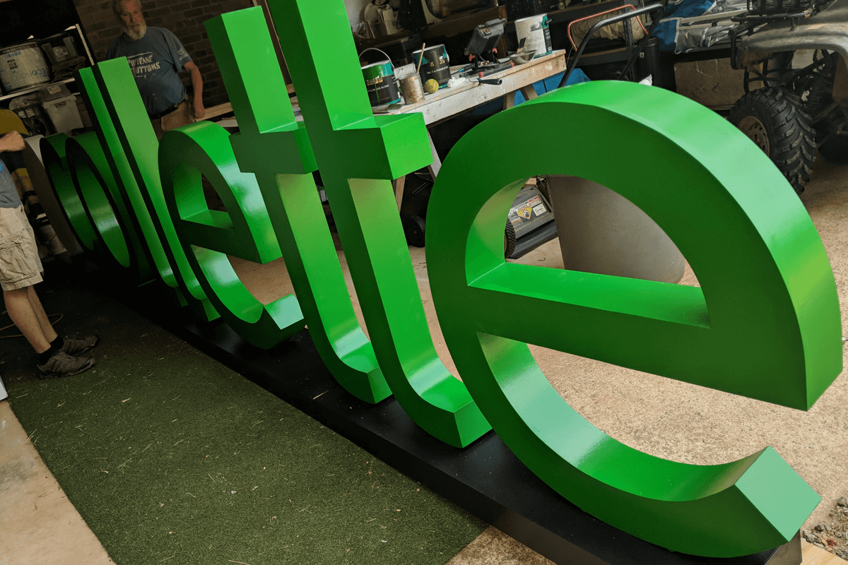 Atlanta Props™ Custom 3D Letters and Logos - Large Green Letters