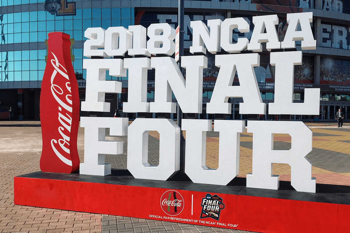 Atlanta Props™ Custom 3D Letters and Logos - 2018 NCAA Final Four Letters For Coca-Cola