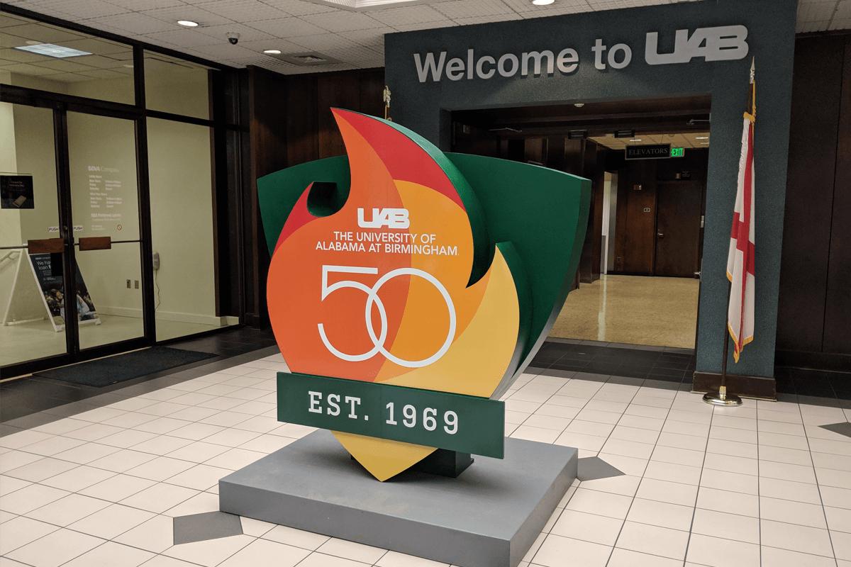 Atlanta Props™ Custom 3D Letters and Logos - UAB 50th Anniversary Logo