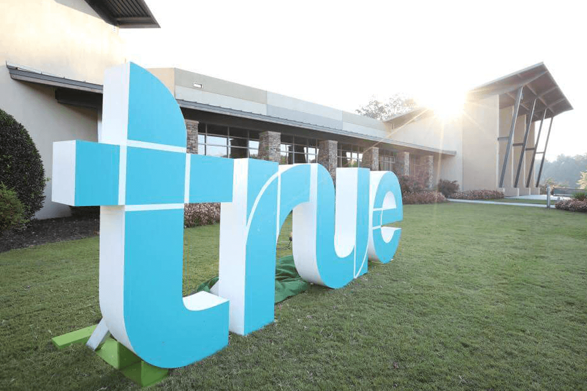 Atlanta Props™ Custom 3D Letters and Logos - Oversized Outdoor 3D Letters for Church Event